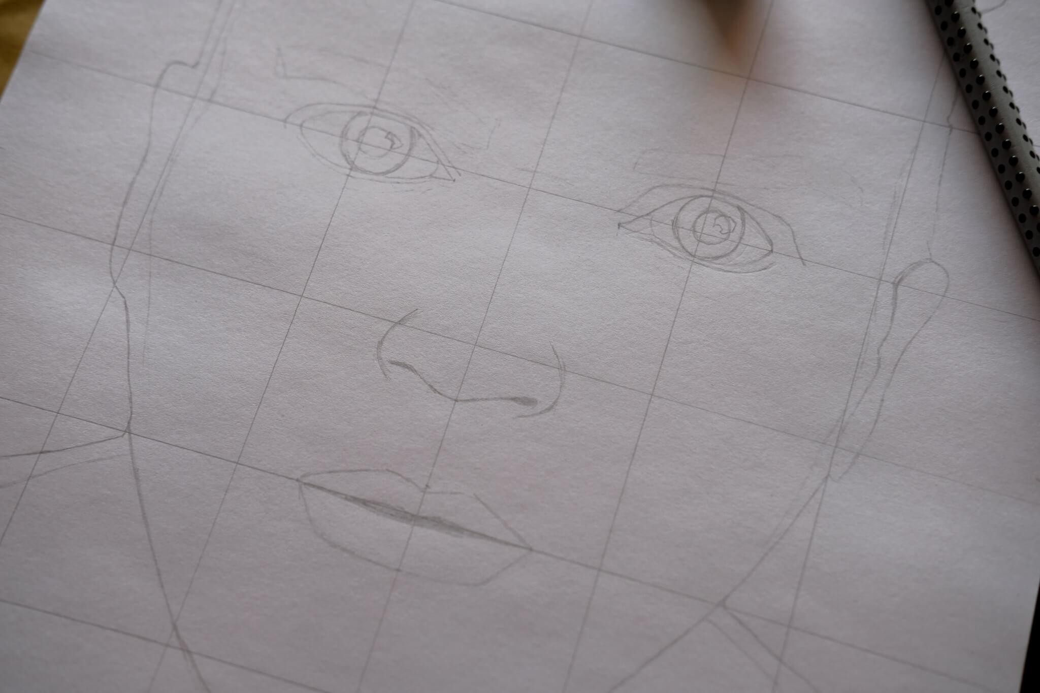 Porträt skizzieren