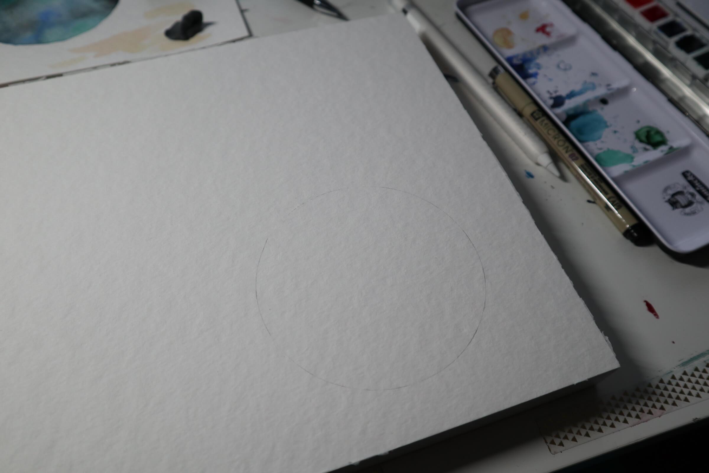 malen mit Watercolor Vorbereitung