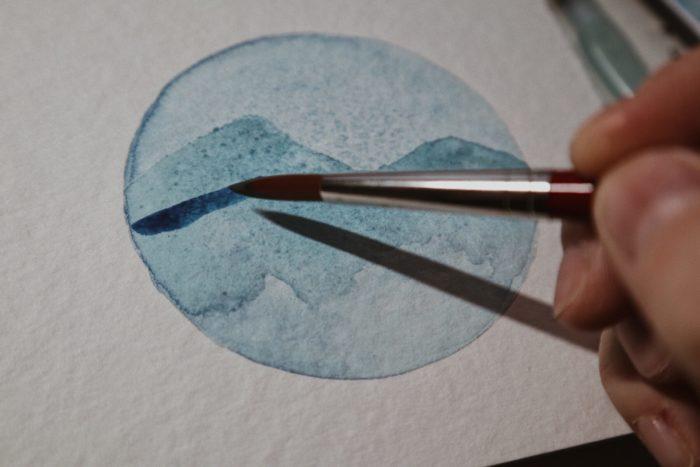 Schritt für Schritt Anleitung Watercolor