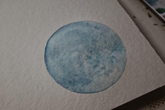 feuchter Aquarell-Kreis