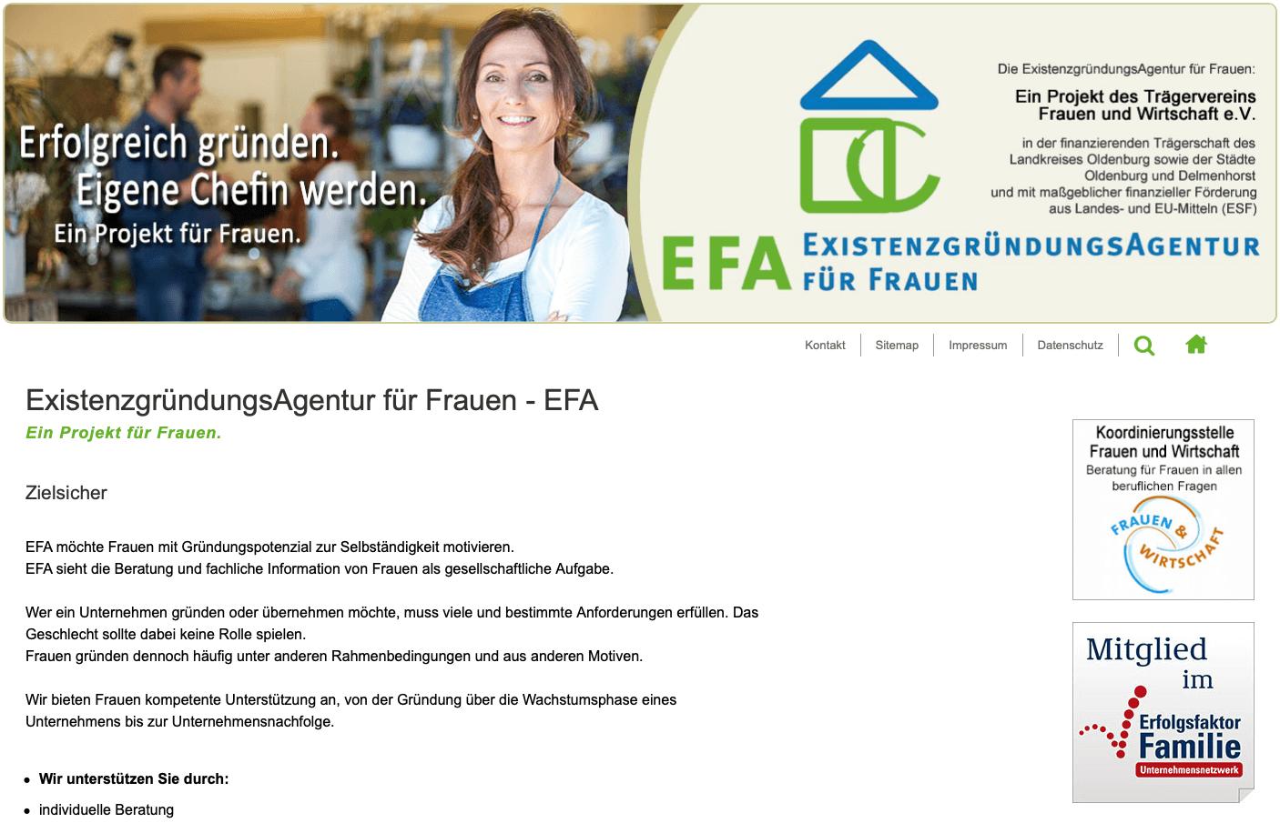 EFA Existenzgründungsagentur für Frauen