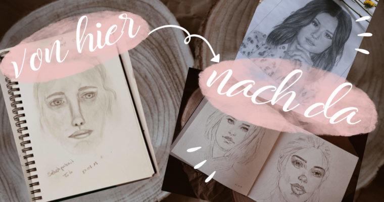 Ein Jahr Porträt zeichnen – mein Prozess